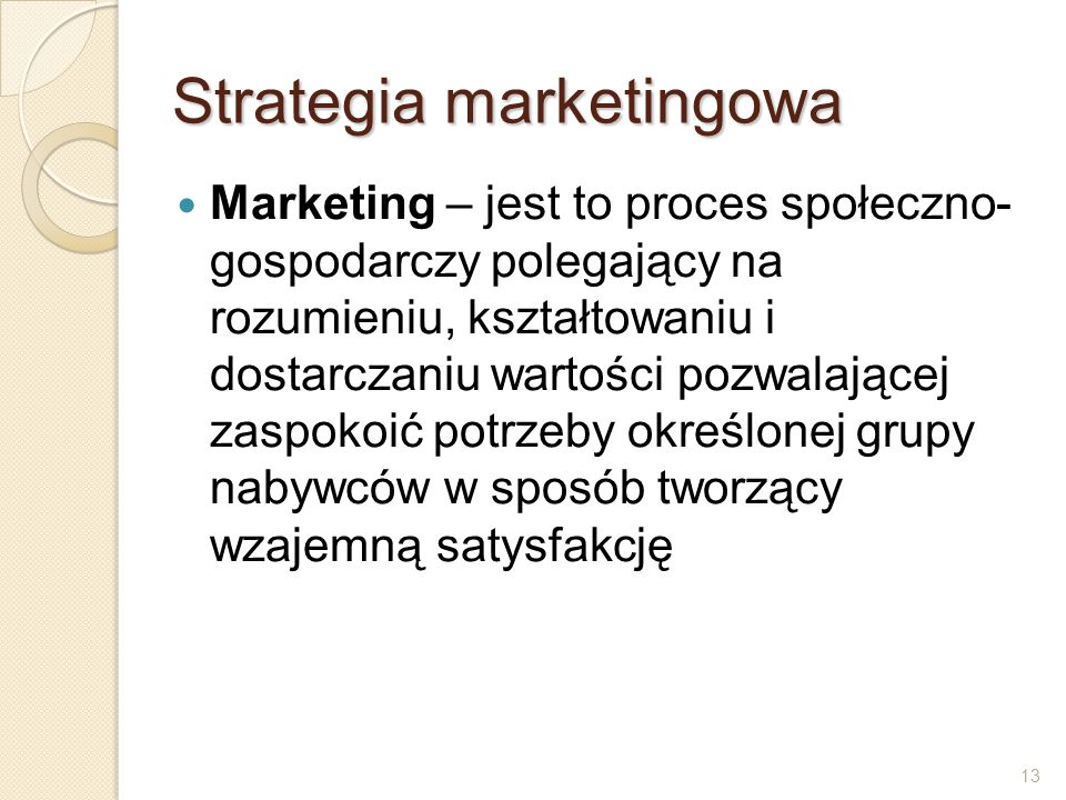 Strategia marketingowa