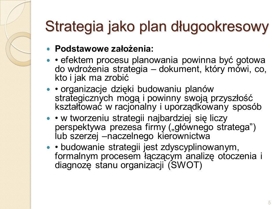 Strategia jako plan długookresowy