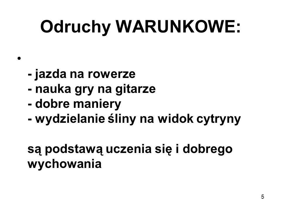 Odruchy WARUNKOWE: