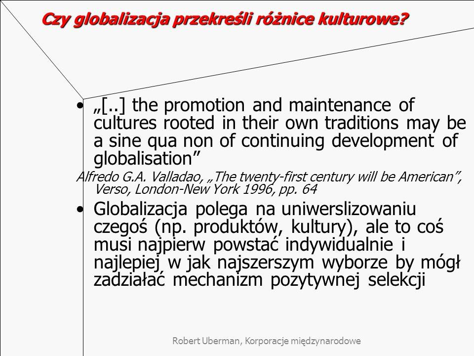Czy globalizacja przekreśli różnice kulturowe