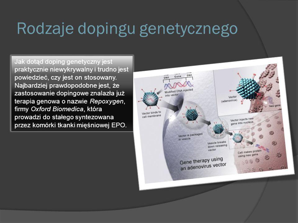 Rodzaje dopingu genetycznego