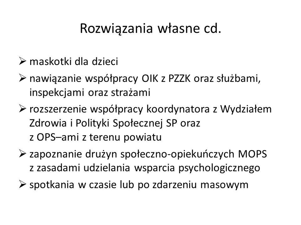 Rozwiązania własne cd. maskotki dla dzieci