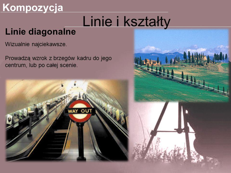 Linie i kształty Kompozycja Linie diagonalne Wizualnie najciekawsze.