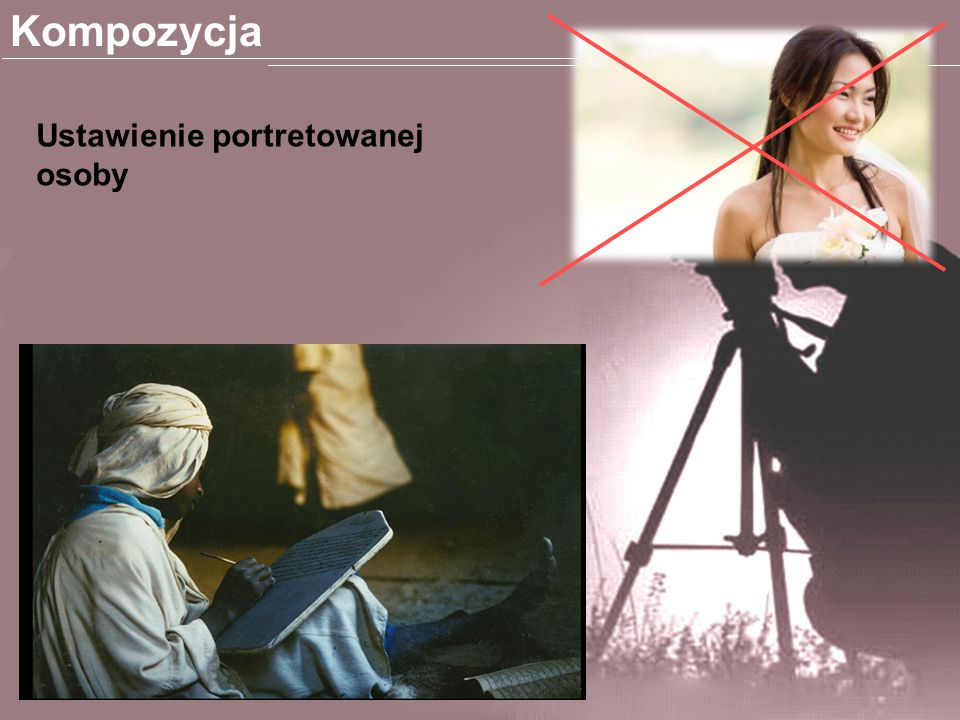 Kompozycja Ustawienie portretowanej osoby