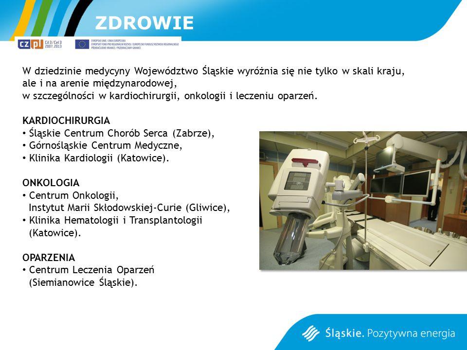 ZDROWIE W dziedzinie medycyny Województwo Śląskie wyróżnia się nie tylko w skali kraju, ale i na arenie międzynarodowej,