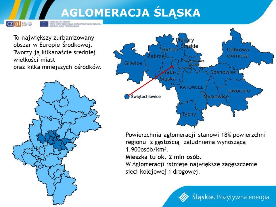 AGLOMERACJA ŚLĄSKA To największy zurbanizowany