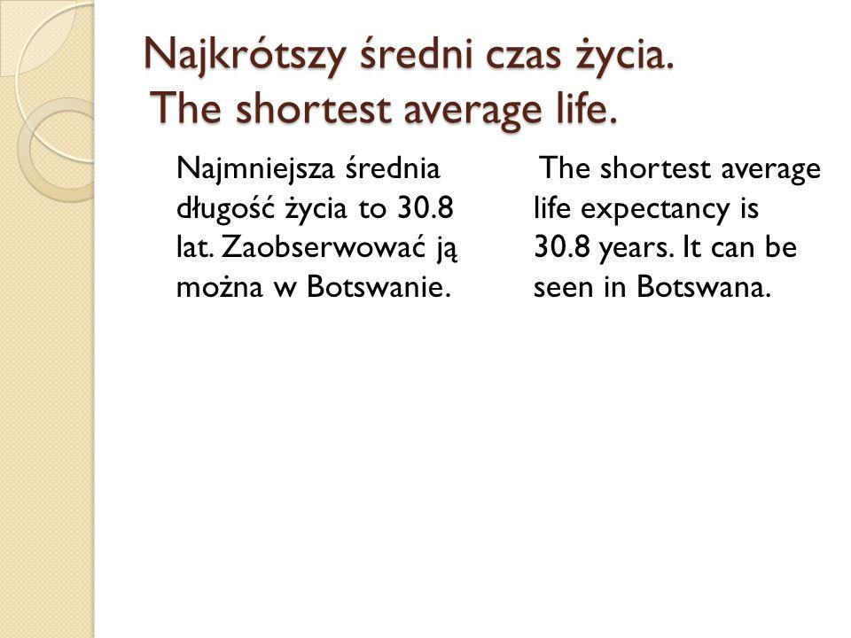Najkrótszy średni czas życia. The shortest average life.