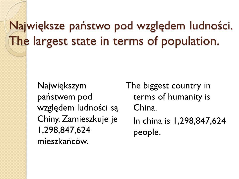 Największe państwo pod względem ludności