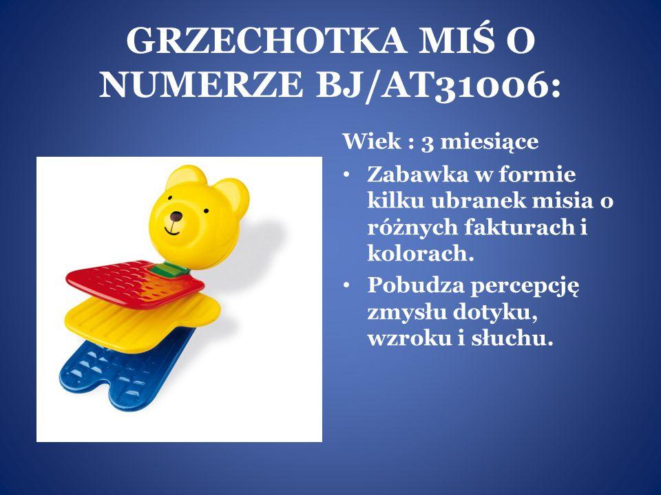 GRZECHOTKA MIŚ O NUMERZE BJ/AT31006: