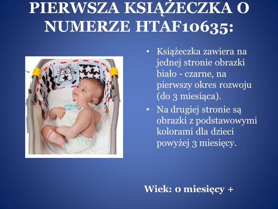 PIERWSZA KSIĄŻECZKA O NUMERZE HTAF10635: