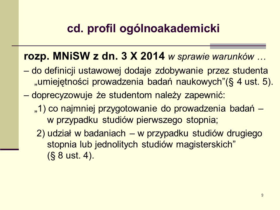 cd. profil ogólnoakademicki