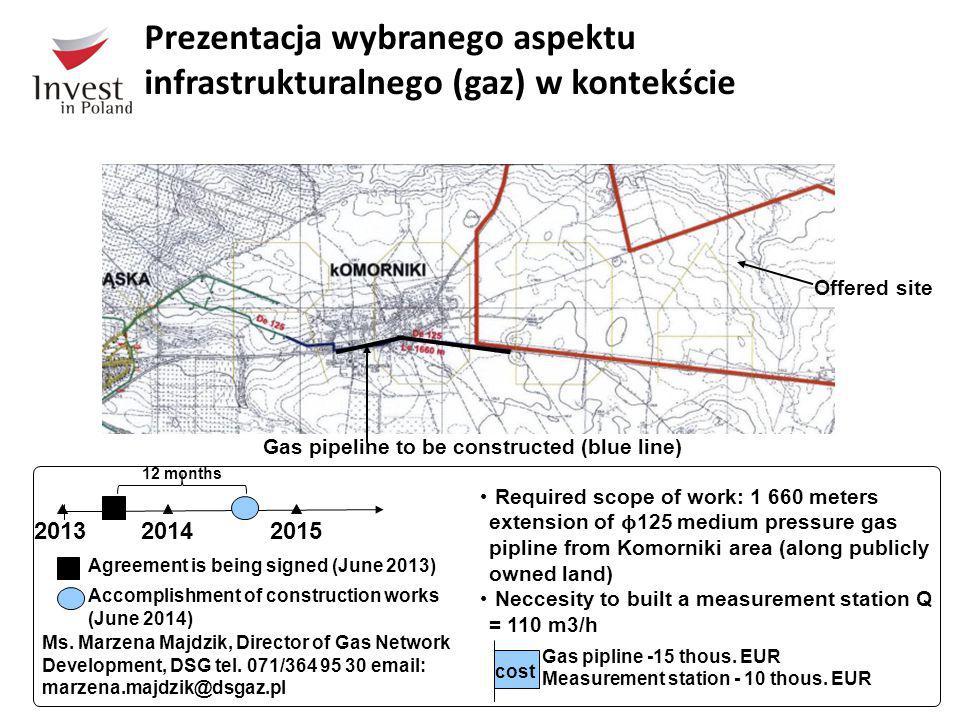 Prezentacja wybranego aspektu infrastrukturalnego (gaz) w kontekście magicznego trójkąta