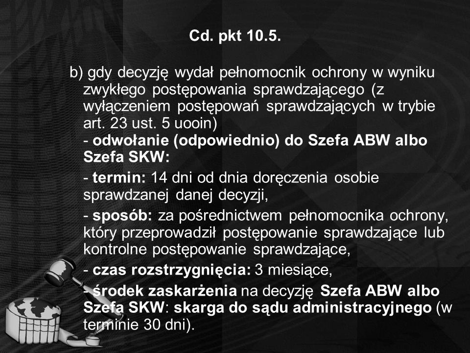 Cd. pkt 10.5.