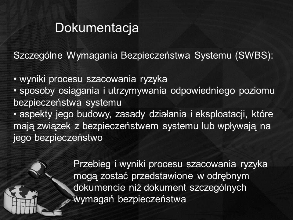 Dokumentacja Szczególne Wymagania Bezpieczeństwa Systemu (SWBS):