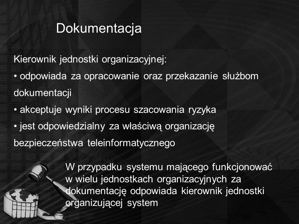 Dokumentacja Kierownik jednostki organizacyjnej: