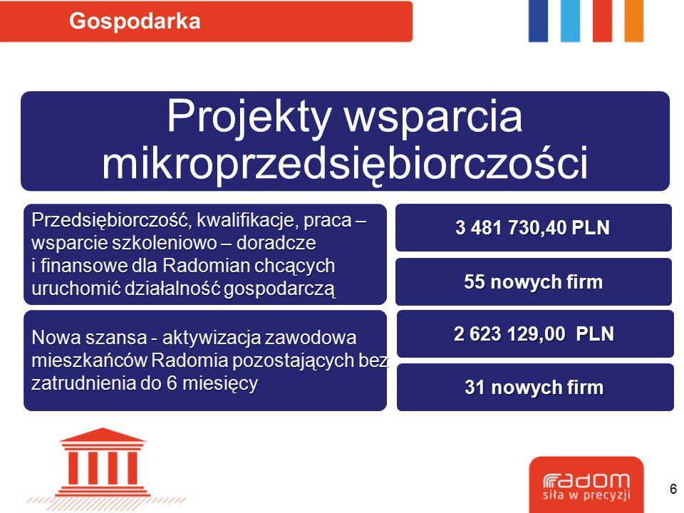 Projekty wsparcia mikroprzedsiębiorczości