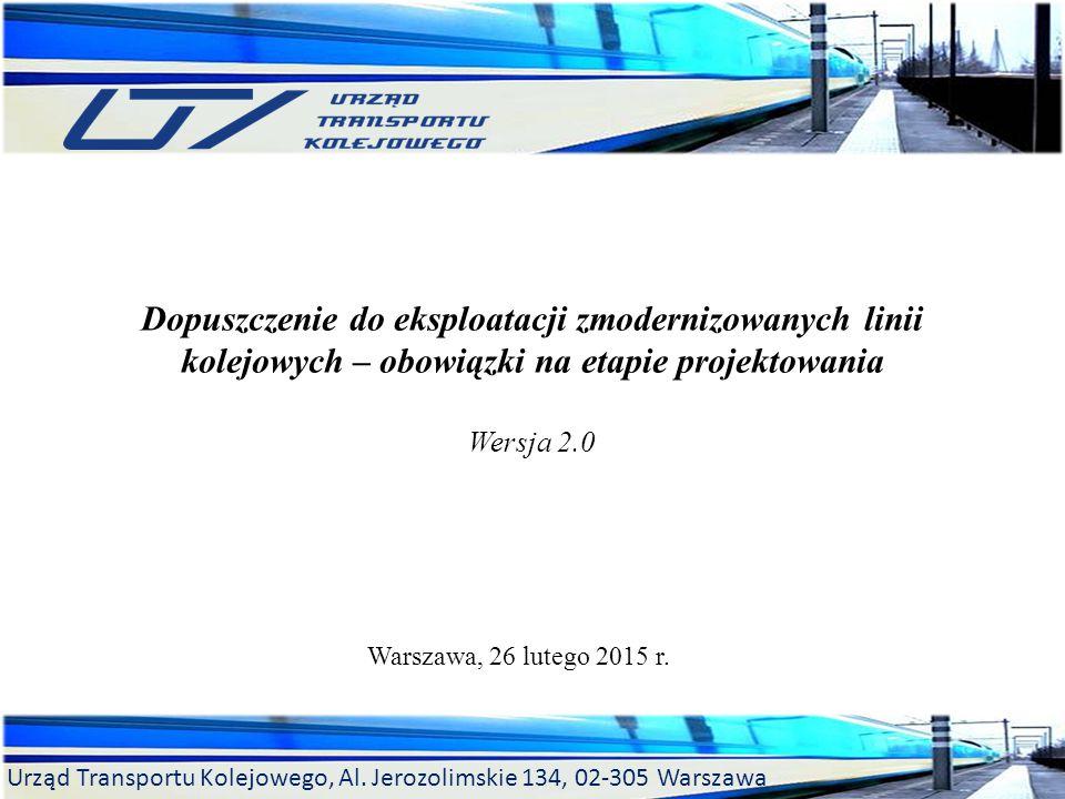 Dopuszczenie do eksploatacji zmodernizowanych linii kolejowych – obowiązki na etapie projektowania