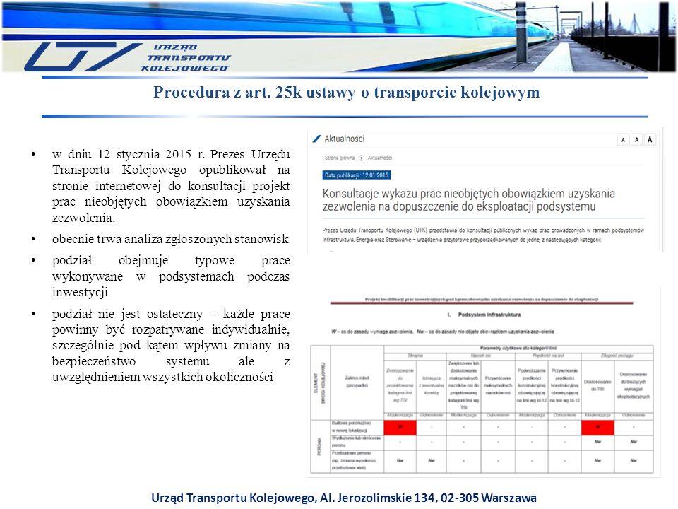 Procedura z art. 25k ustawy o transporcie kolejowym