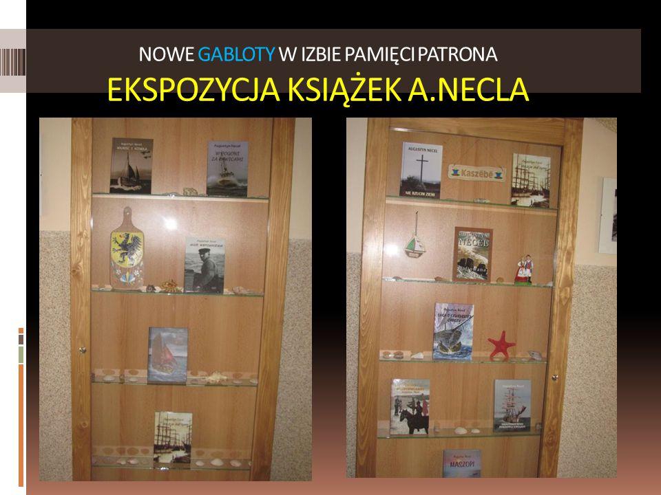 NOWE GABLOTY W IZBIE PAMIĘCI PATRONA EKSPOZYCJA KSIĄŻEK A.NECLA