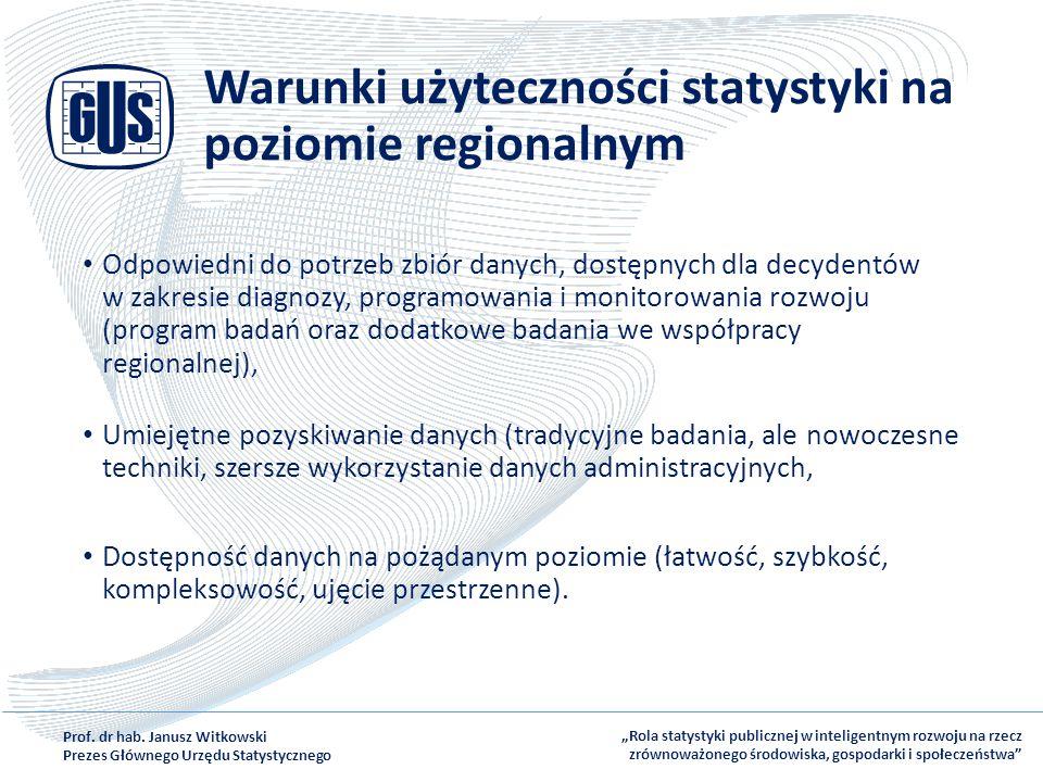 Warunki użyteczności statystyki na poziomie regionalnym