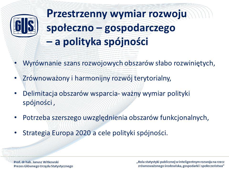 Przestrzenny wymiar rozwoju społeczno – gospodarczego – a polityka spójności