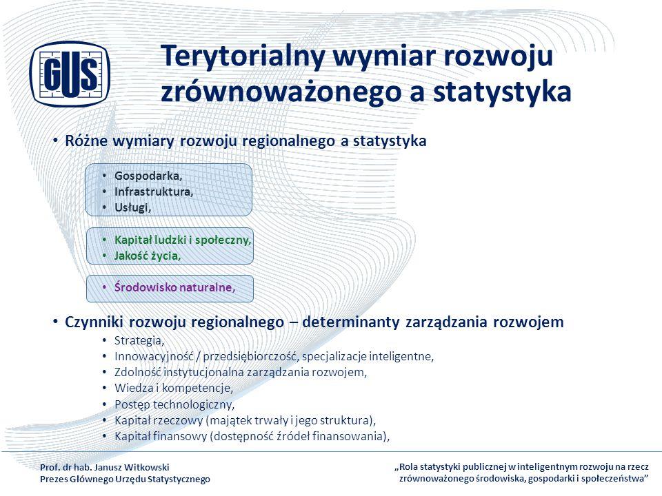 Terytorialny wymiar rozwoju zrównoważonego a statystyka
