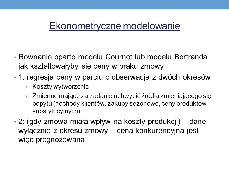 Ekonometryczne modelowanie