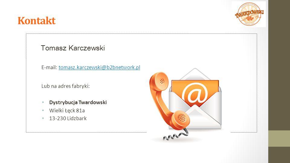Kontakt Tomasz Karczewski E-mail: tomasz.karczewski@b2bnetwork.pl