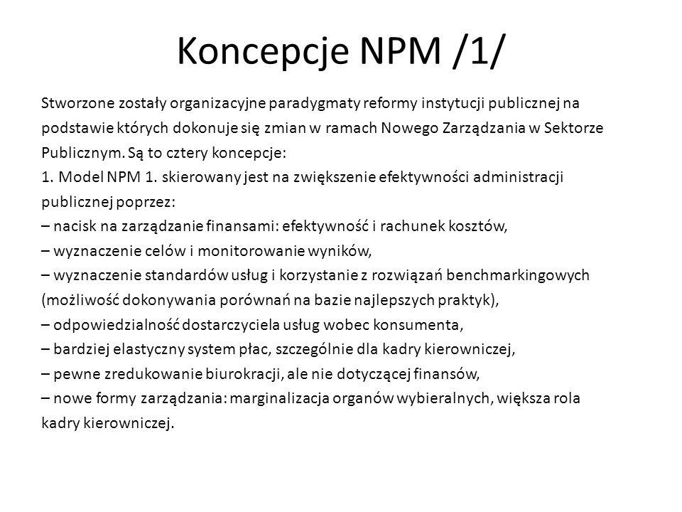 Koncepcje NPM /1/