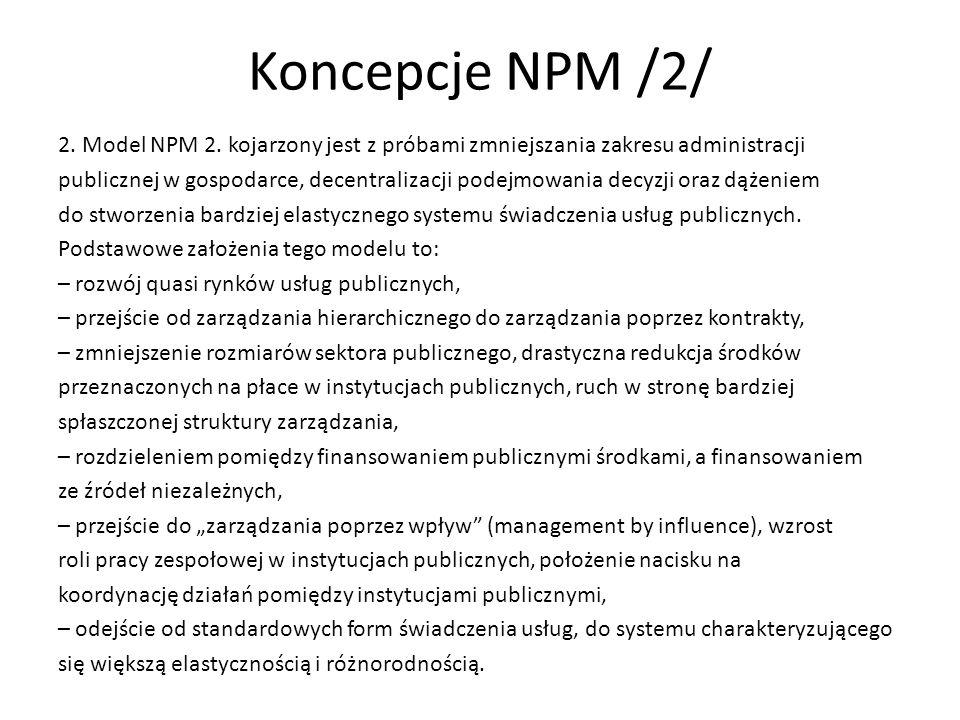 Koncepcje NPM /2/