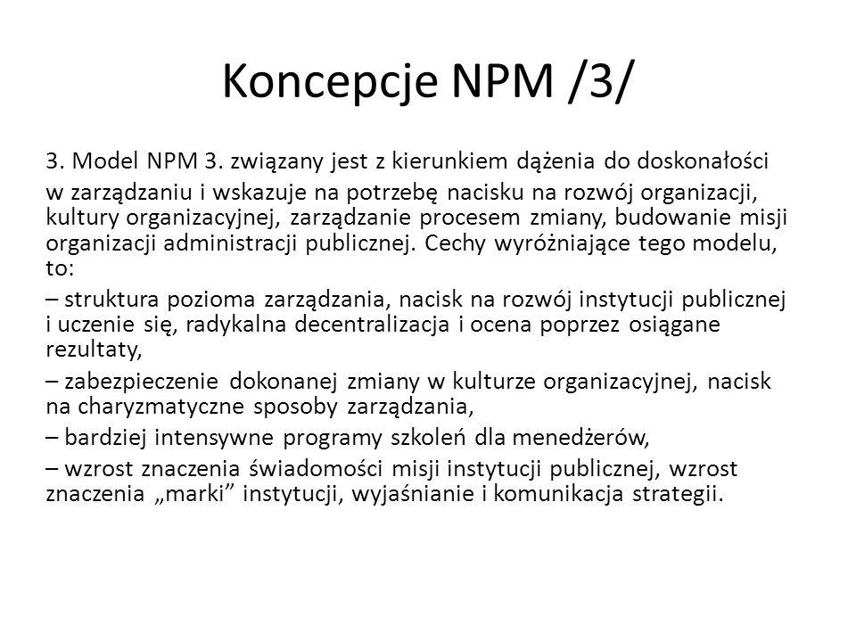 Koncepcje NPM /3/