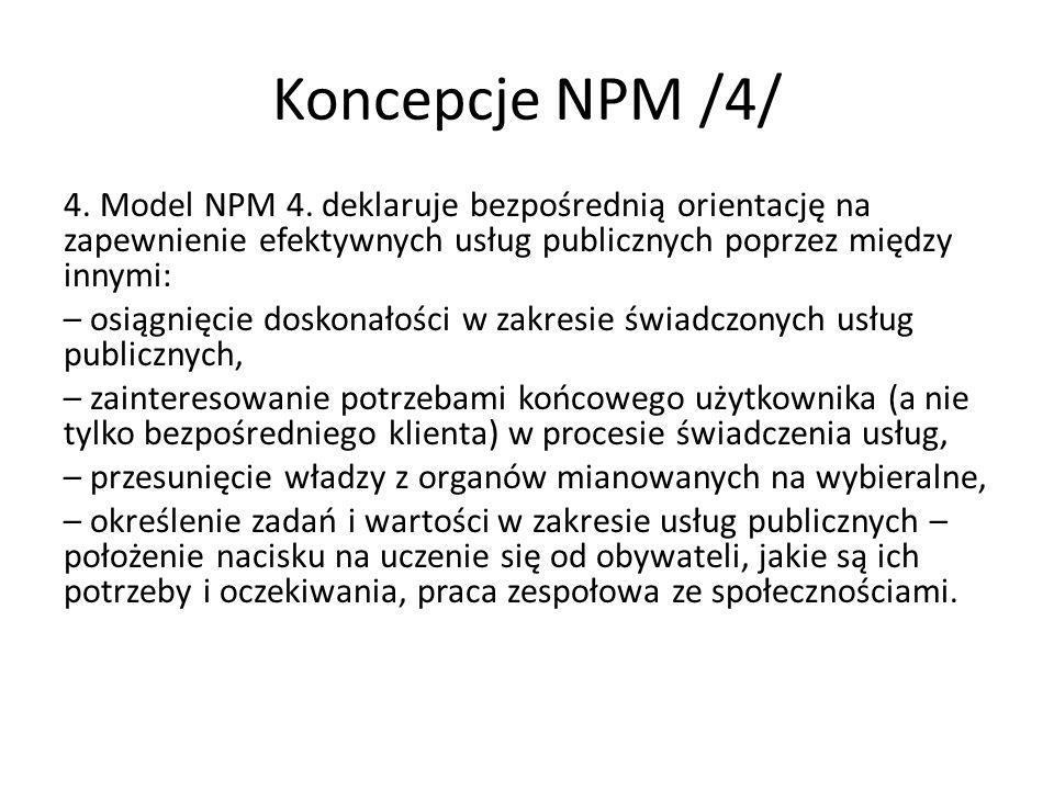Koncepcje NPM /4/