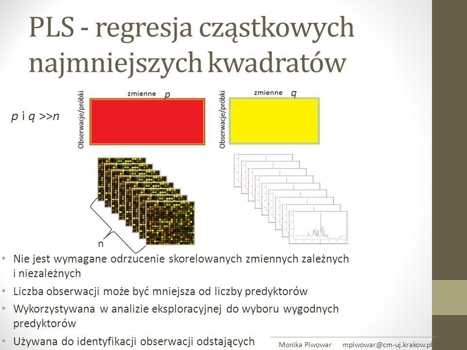 PLS - regresja cząstkowych najmniejszych kwadratów