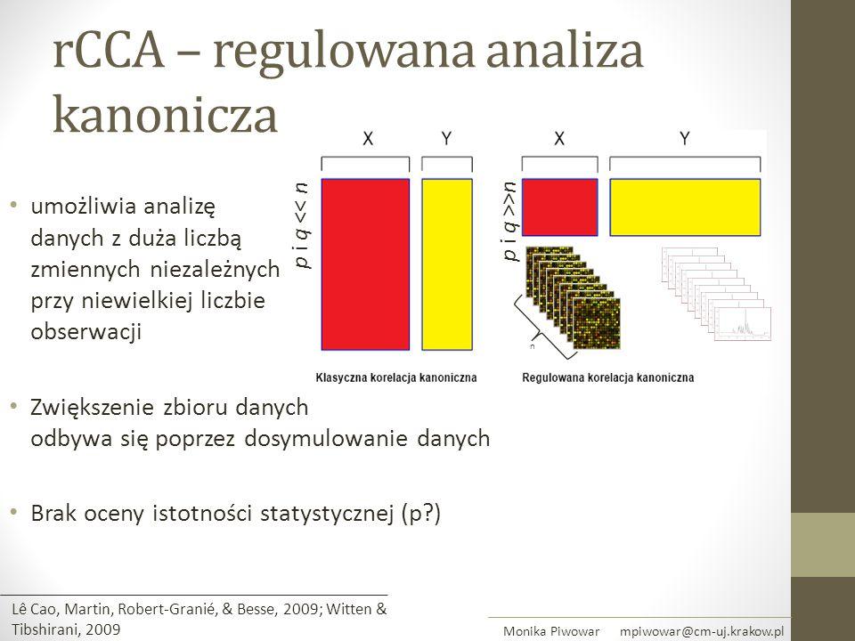 rCCA – regulowana analiza kanonicza