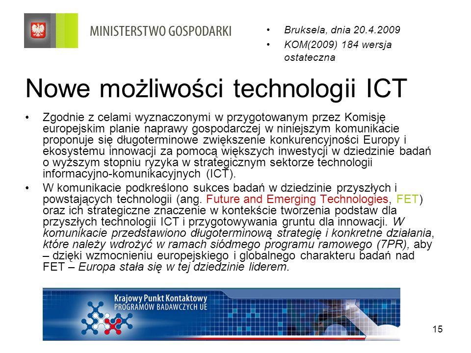Nowe możliwości technologii ICT