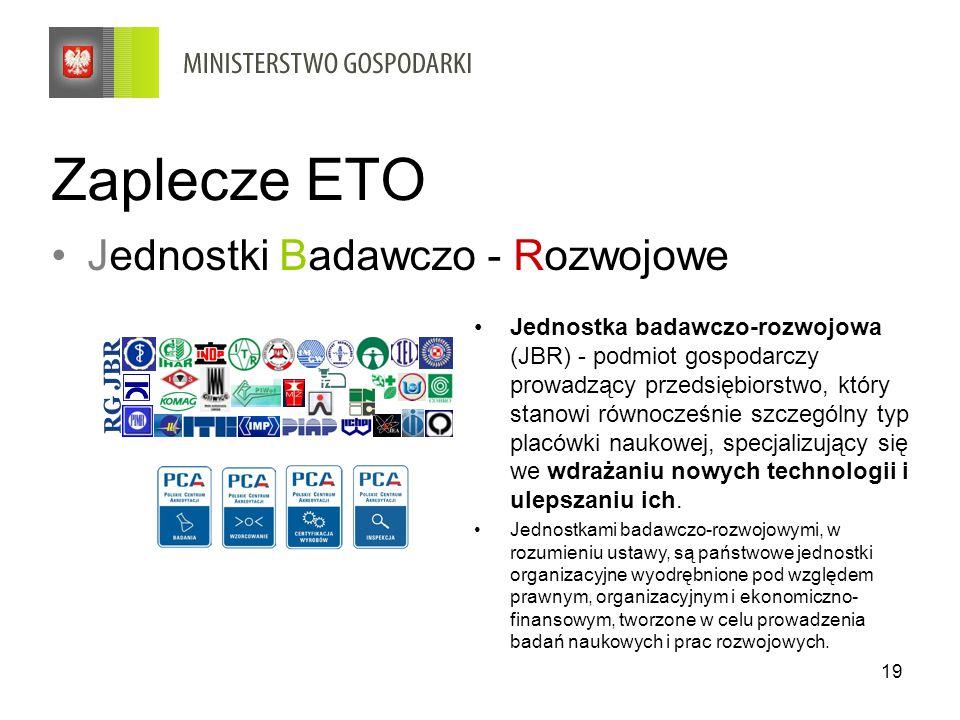 Zaplecze ETO Jednostki Badawczo - Rozwojowe