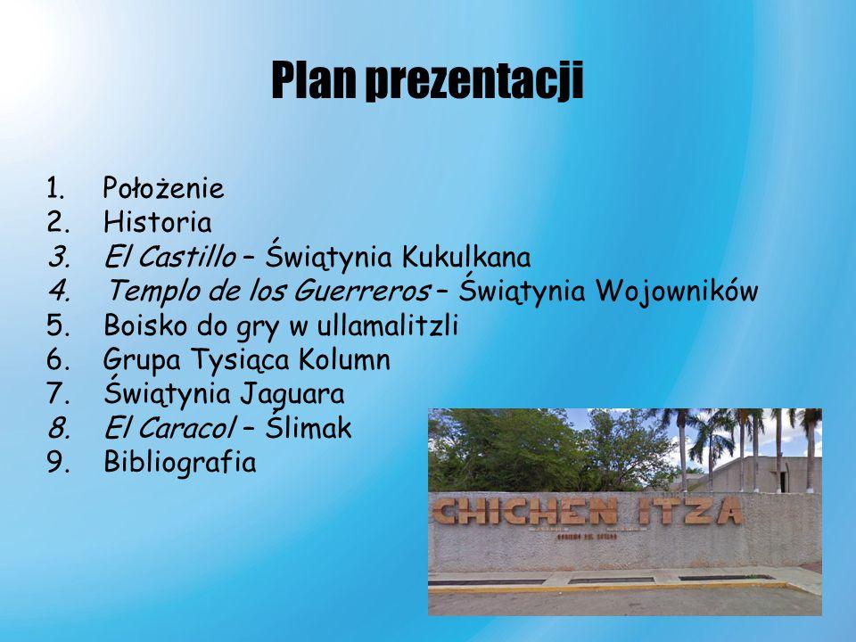 Plan prezentacji Położenie Historia El Castillo – Świątynia Kukulkana