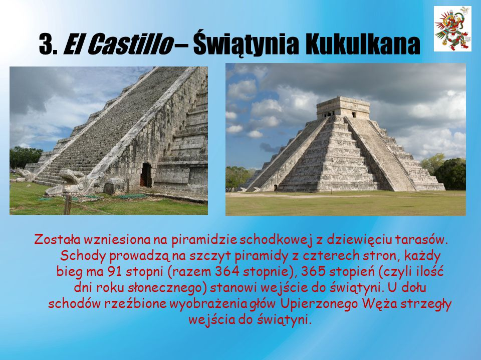 3. El Castillo – Świątynia Kukulkana