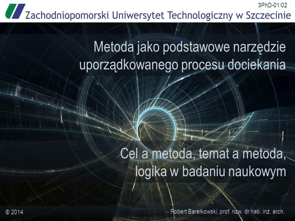 Cel a metoda, temat a metoda, logika w badaniu naukowym