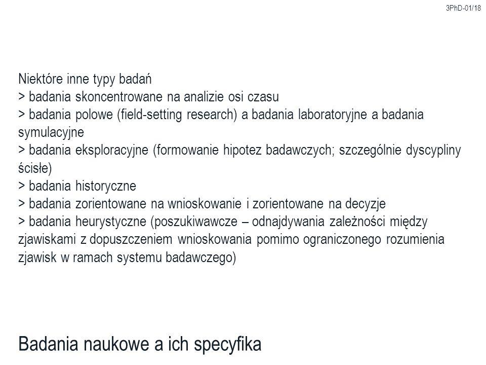 Badania naukowe a ich specyfika