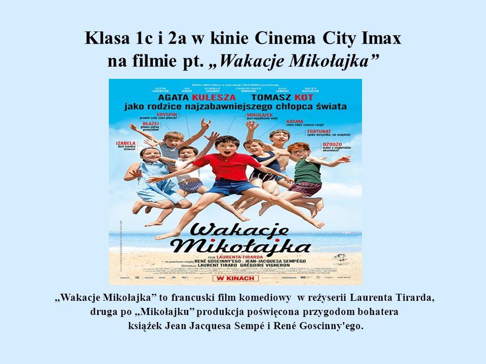 Klasa 1c i 2a w kinie Cinema City Imax na filmie pt