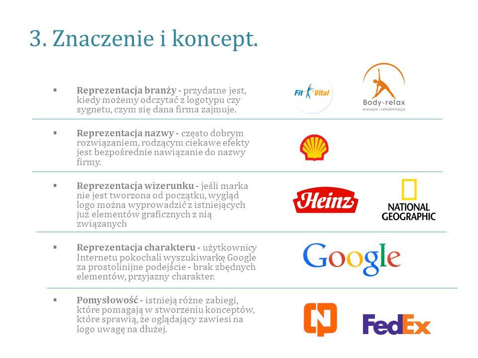 3. Znaczenie i koncept. Reprezentacja branży - przydatne jest, kiedy możemy odczytać z logotypu czy sygnetu, czym się dana firma zajmuje.
