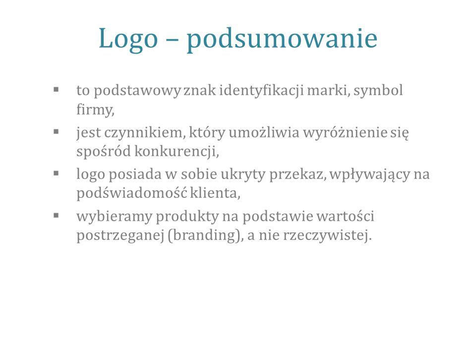 Logo – podsumowanie to podstawowy znak identyfikacji marki, symbol firmy, jest czynnikiem, który umożliwia wyróżnienie się spośród konkurencji,