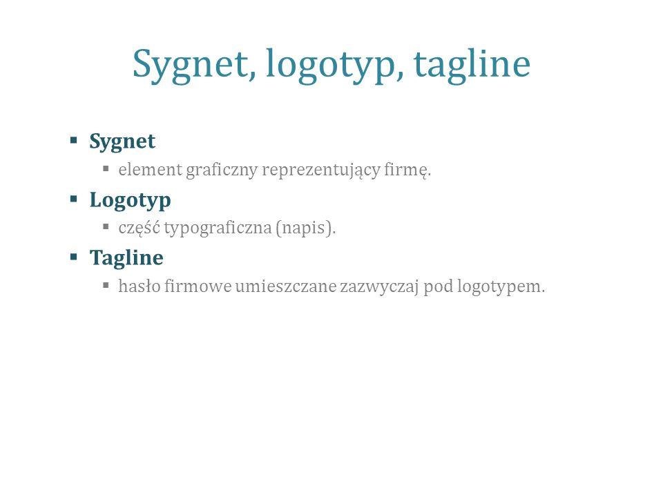 Sygnet, logotyp, tagline
