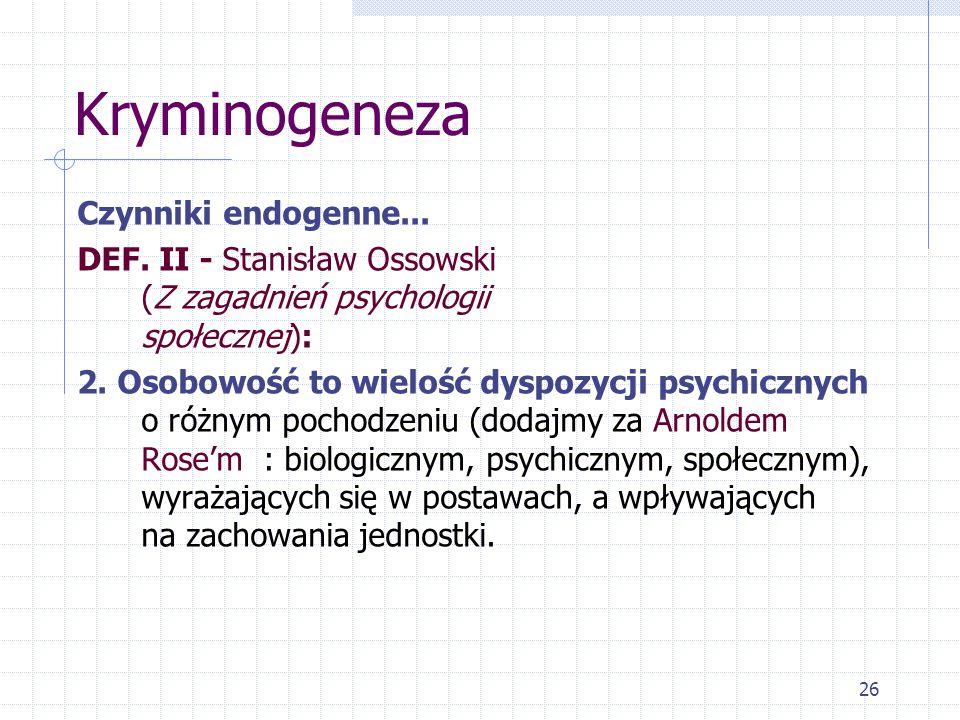 Kryminogeneza