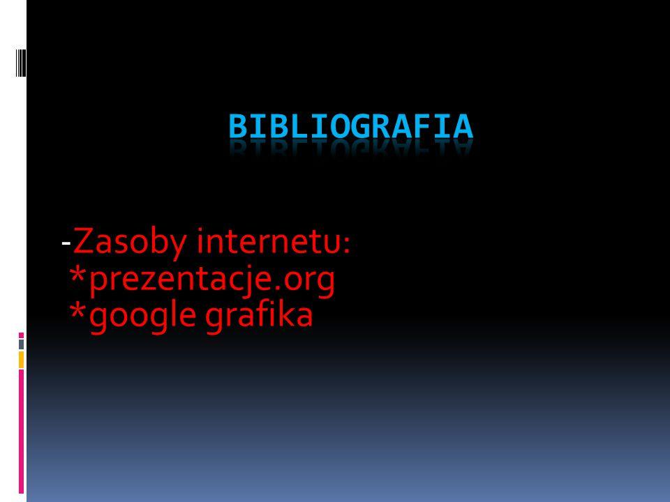 -Zasoby internetu: *prezentacje.org *google grafika