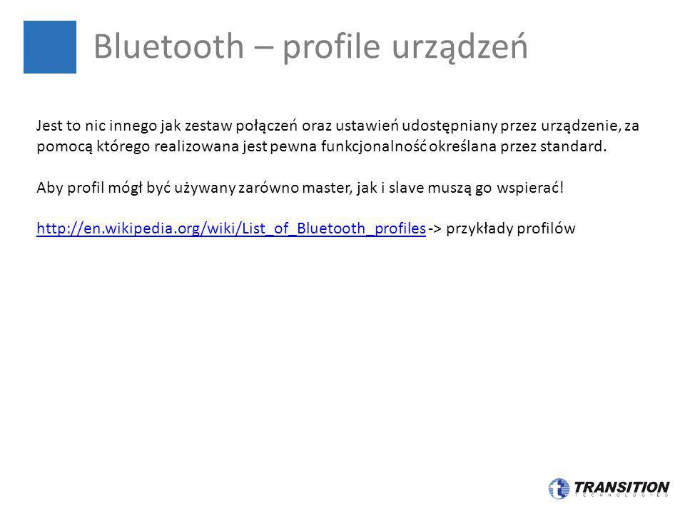 Bluetooth – profile urządzeń