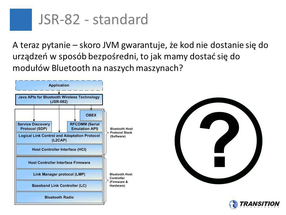 JSR-82 - standard