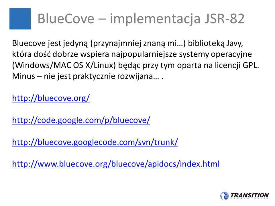 BlueCove – implementacja JSR-82