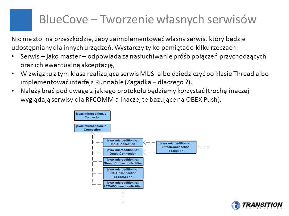 BlueCove – Tworzenie własnych serwisów